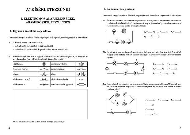 Fizika 8 osztály elektromos áram feladatok