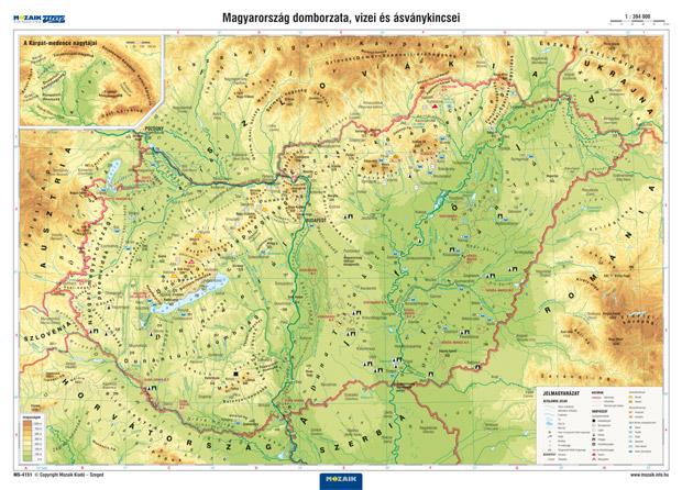 online domborzati térkép Mozaik Kiadó   Magyarország domborzata falitérkép online domborzati térkép